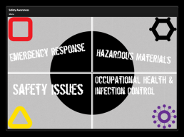 Safety Awareness - Menu Screen